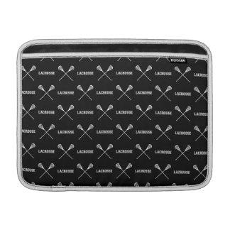 Schwarzer Lacrosse haftet MacBook-Luft-Hülse Sleeves Fürs MacBook Air