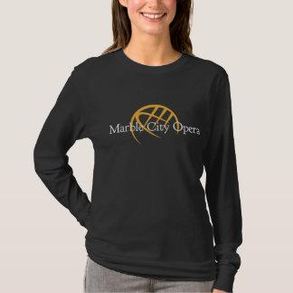 Schwarzer langer Hülsen-T - Shirt: T-Shirt