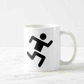 schwarzer Läuferleichtathletik-Sprinterlauf Kaffeetasse