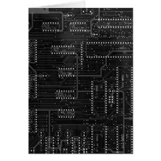 Schwarzer LeiterplatteCyber industrielles EBM Grußkarte