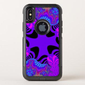 Schwarzer lila QueriPhone X Kasten OtterBox Commuter iPhone X Hülle
