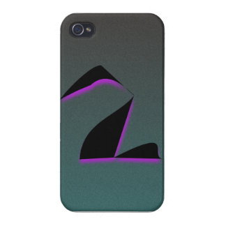 Schwarzer lila Schwan abstrakt iPhone 4 Hülle