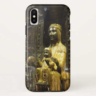 schwarzer madonna Montserrat-Kasten iPhone X Hülle