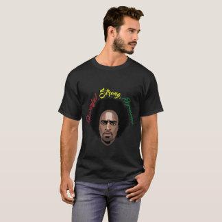 Schwarzer Mann T-Shirt-Stark, stark, dynamisch T-Shirt