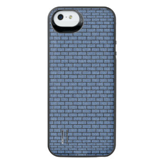 SCHWARZER MARMOR BRICK1 U. BLAUES DENIM (R) iPhone SE/5/5s BATTERIE HÜLLE