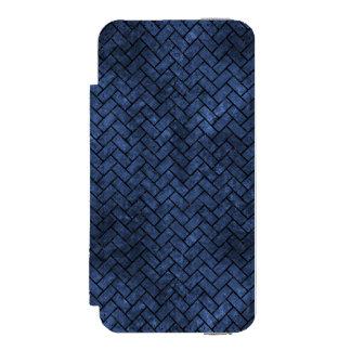 SCHWARZER MARMOR BRICK2 U. BLAUER STEIN (R) INCIPIO WATSON™ iPhone 5 GELDBÖRSEN HÜLLE