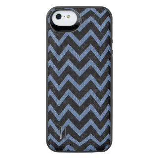SCHWARZER MARMOR CHEVRON9 U. BLAUES DENIM iPhone SE/5/5s BATTERIE HÜLLE