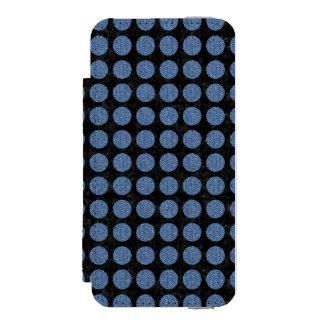 SCHWARZER MARMOR CIRCLES1 U. BLAUES DENIM INCIPIO WATSON™ iPhone 5 GELDBÖRSEN HÜLLE