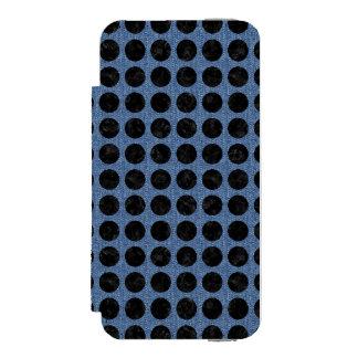 SCHWARZER MARMOR CIRCLES1 U. BLAUES DENIM (R) INCIPIO WATSON™ iPhone 5 GELDBÖRSEN HÜLLE