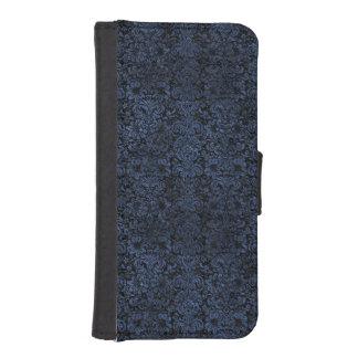 SCHWARZER MARMOR DAMASK2 U. BLAUER STEIN iPhone SE/5/5s GELDBEUTEL