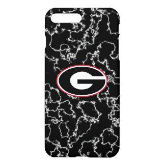 Schwarzer Marmor des Georgia-Bulldoggen-Logo-  iPhone 8 Plus/7 Plus Hülle
