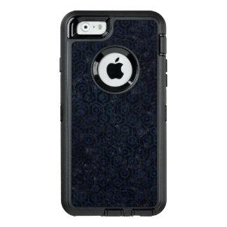 SCHWARZER MARMOR HEXAGON1 U. BLAUER SCHMUTZ OtterBox iPhone 6/6S HÜLLE