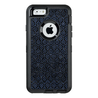 SCHWARZER MARMOR HEXAGON1 U. BLAUER STEIN OtterBox iPhone 6/6S HÜLLE