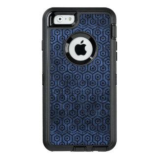 SCHWARZER MARMOR HEXAGON1 U. BLAUER STEIN (R) OtterBox iPhone 6/6S HÜLLE