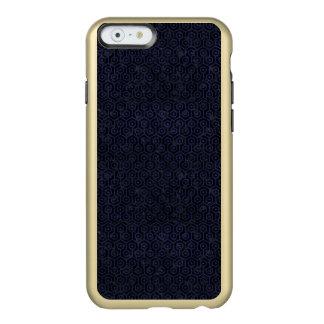 SCHWARZER MARMOR HEXAGON1 U. BLAUES LEDER INCIPIO FEATHER® SHINE iPhone 6 HÜLLE