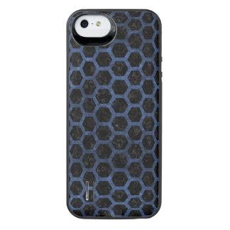 SCHWARZER MARMOR HEXAGON2 U. BLAUER STEIN iPhone SE/5/5s BATTERIE HÜLLE