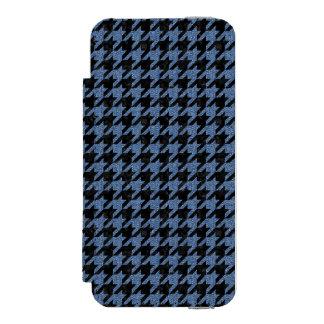 SCHWARZER MARMOR HOUNDSTOOTH1 U. BLAUES DENIM INCIPIO WATSON™ iPhone 5 GELDBÖRSEN HÜLLE