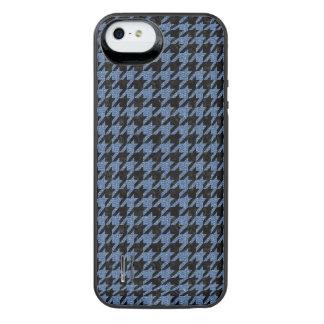 SCHWARZER MARMOR HOUNDSTOOTH1 U. BLAUES DENIM iPhone SE/5/5s BATTERIE HÜLLE