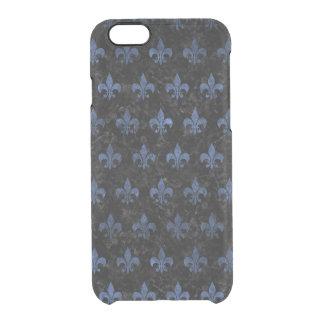 SCHWARZER MARMOR ROYAL1 U. BLAUER STEIN (R) DURCHSICHTIGE iPhone 6/6S HÜLLE