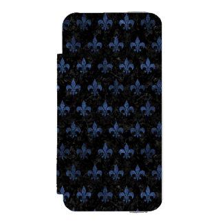 SCHWARZER MARMOR ROYAL1 U. BLAUER STEIN (R) INCIPIO WATSON™ iPhone 5 GELDBÖRSEN HÜLLE