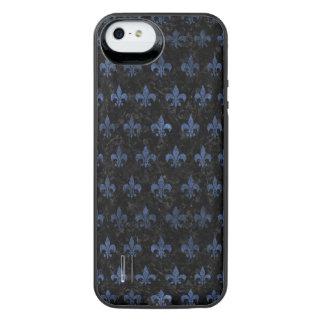 SCHWARZER MARMOR ROYAL1 U. BLAUER STEIN (R) iPhone SE/5/5s BATTERIE HÜLLE