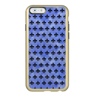 SCHWARZER MARMOR ROYAL1 U. BLAUES AQUARELL INCIPIO FEATHER® SHINE iPhone 6 HÜLLE