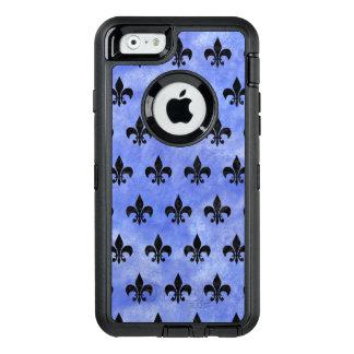 SCHWARZER MARMOR ROYAL1 U. BLAUES AQUARELL OtterBox iPhone 6/6S HÜLLE