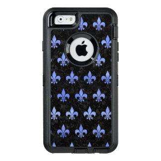 SCHWARZER MARMOR ROYAL1 U. BLAUES AQUARELL (R) OtterBox iPhone 6/6S HÜLLE
