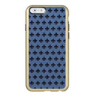 SCHWARZER MARMOR ROYAL1 U. BLAUES DENIM INCIPIO FEATHER® SHINE iPhone 6 HÜLLE