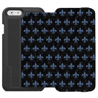 SCHWARZER MARMOR ROYAL1 U. BLAUES DENIM (R) INCIPIO WATSON™ iPhone 6 GELDBÖRSEN HÜLLE