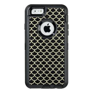SCHWARZER MARMOR SCALES1 U. BEIGE LEINEN OtterBox iPhone 6/6S HÜLLE