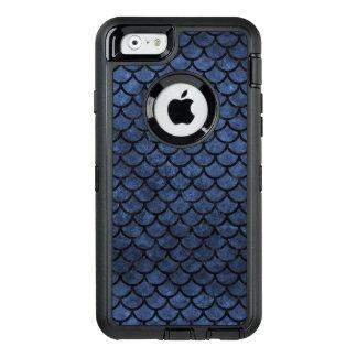 SCHWARZER MARMOR SCALES1 U. BLAUER STEIN (R) OtterBox iPhone 6/6S HÜLLE