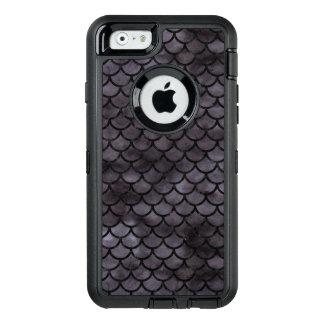 SCHWARZER MARMOR SCALES1 U. SCHWARZES AQUARELL (R) OtterBox iPhone 6/6S HÜLLE