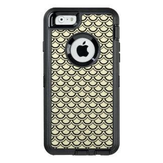 SCHWARZER MARMOR SCALES2 U. BEIGE LEINEN (R) OtterBox iPhone 6/6S HÜLLE