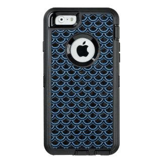 SCHWARZER MARMOR SCALES2 U. BLAU FARBIGER OtterBox iPhone 6/6S HÜLLE