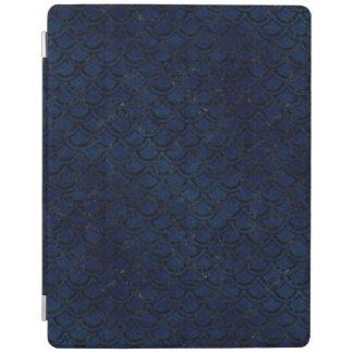 SCHWARZER MARMOR SCALES2 U. BLAUER SCHMUTZ (R) iPad HÜLLE
