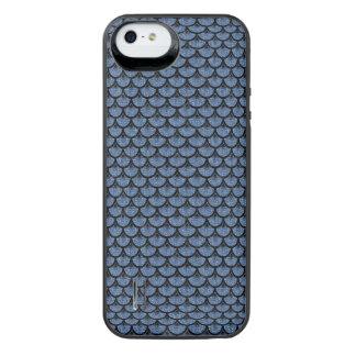 SCHWARZER MARMOR SCALES3 U. BLAUES DENIM (R) iPhone SE/5/5s BATTERIE HÜLLE