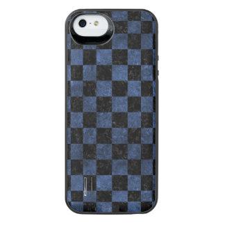 SCHWARZER MARMOR SQUARE1 U. BLAUER STEIN iPhone SE/5/5s BATTERIE HÜLLE