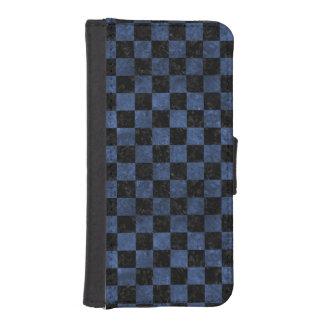SCHWARZER MARMOR SQUARE1 U. BLAUER STEIN iPhone SE/5/5s GELDBEUTEL