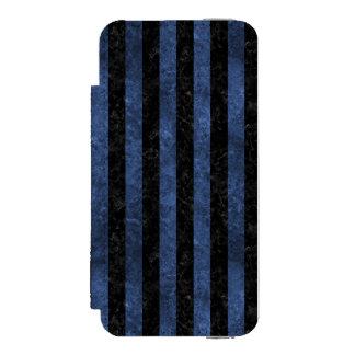 SCHWARZER MARMOR STRIPES1 U. BLAUER STEIN INCIPIO WATSON™ iPhone 5 GELDBÖRSEN HÜLLE