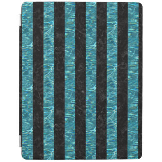 SCHWARZER MARMOR STRIPES1 U. BLAUGRÜNES WASSER iPad SMART COVER