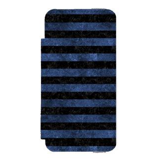 SCHWARZER MARMOR STRIPES2 U. BLAUER STEIN INCIPIO WATSON™ iPhone 5 GELDBÖRSEN HÜLLE