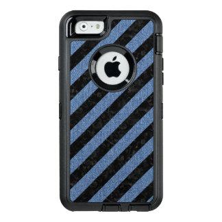 SCHWARZER MARMOR STRIPES3 U. BLAUES DENIM OtterBox iPhone 6/6S HÜLLE