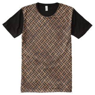 SCHWARZER MARMOR WOVEN2 U. BROWN STEIN-(R) T-Shirt MIT KOMPLETT BEDRUCKBARER VORDERSEITE
