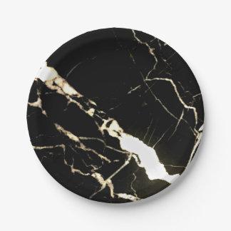 Schwarzer MarmorPappteller Pappteller