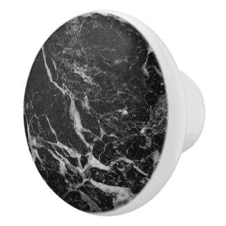 Schwarzer Marmorstein Keramikknauf