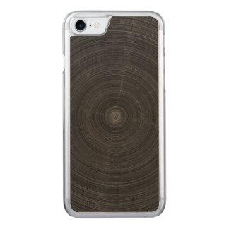 Schwarzer Mattkreis-Stahltrümmer Carved iPhone 8/7 Hülle