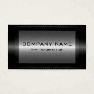 Schwarzer metallischer silbernes visitenkarte