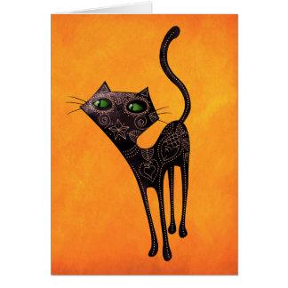 Schwarzer mexikanischer Tag der toten Katze Karte