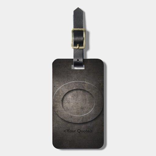 Schwarzer Monogramm-Reise-BronzeGepäckanhänger des Kofferanhängern